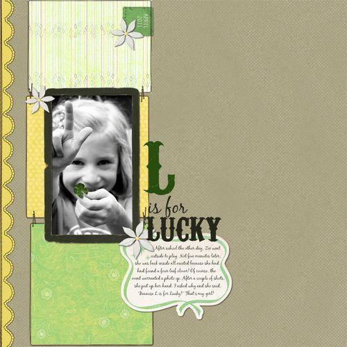 Sat scrap - lucky clover